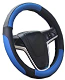 Image of Mayco Bell Car Steering Wheel Cover 15 Inches Comfort Durability Safety (Black Blue)