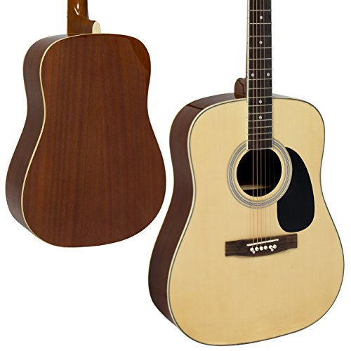 "Acoustic Guitar 41"" Full Size Natural Includes Guitar Case, Strap and More - Image 1"