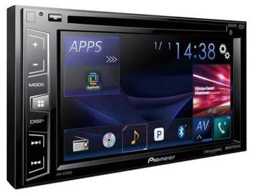 Pioneer AVH-X390BS Double Din Bluetooth in-Dash DVD/CD/Am/FM Car Stereo Receiver with 6.2 Inch Wvga Screen/Sirius - Player Car Radio Dvd Pioneer