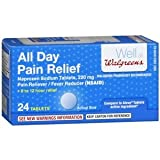 Walgreens All Day Pain Relief Tablets, 24 Each