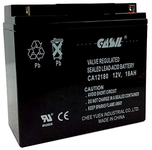 - Casil 12V 18AH T1 Sealed Lead Acid AGM Rechargeable Deep Cycle Battery USA