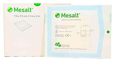 "Mesalt 285780 - Impregnated Absorbent Sterile Wound Dressing - 3"" x 3"" - Box of 30"