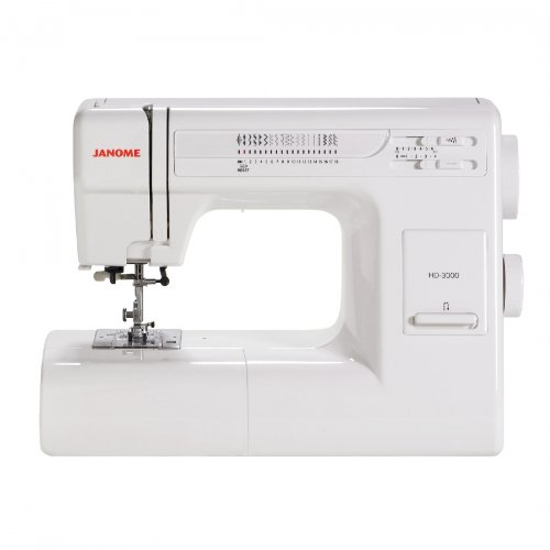 - Janome HD3000 Heavy-Duty Sewing Machine with 18 Built-In Stitches + Hard Case