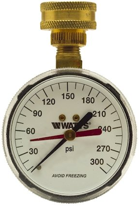(Watts Water Pressure Test Gauge, 276H300 3/4
