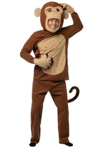 Rasta Imposta Mens Funny Monkeying Around Theme Party Fancy Dress Costume, Standard (42-46)