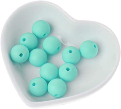 silicone alimentaire Turquoise Perle en silicone ronde Mickey