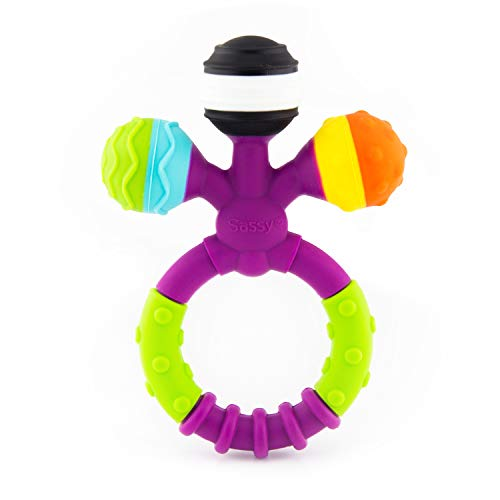 Sassy Prongy Ball Teether | 100% Silicone | BPA Free | Dishwasher Safe | for Ages 3 Months and - Sassy Teether