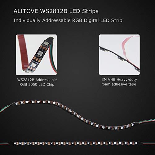 ALITOVE Addressable RGB LED Strip for PC, 5V WS2812B Rainbow Digital