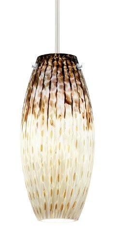(Juno Lighting P88MPLA2-STN-SUN Charlotte 5W 12V 2700K LED MonoPoint Pendant with Sundae Art Glass Shade, Satin Nickel Finish)