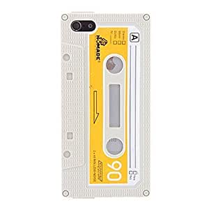 ZLXUSA (TM) Magnetic Tape Pattern Soft TPU Case for iPhone 5/5S White