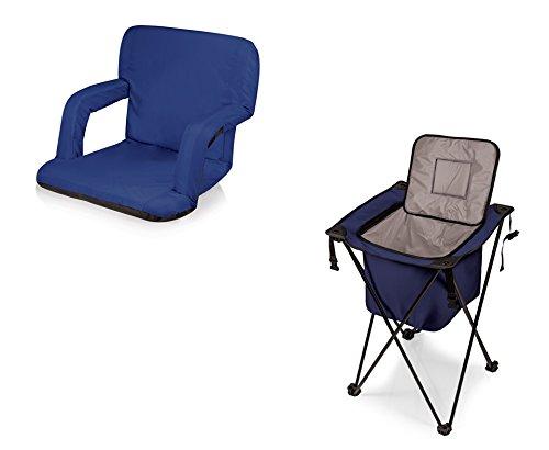 ピクニック時間Ventura Seat and Sidekickポータブルクーラー – ネイビー、2のセット B06XH9BG1G
