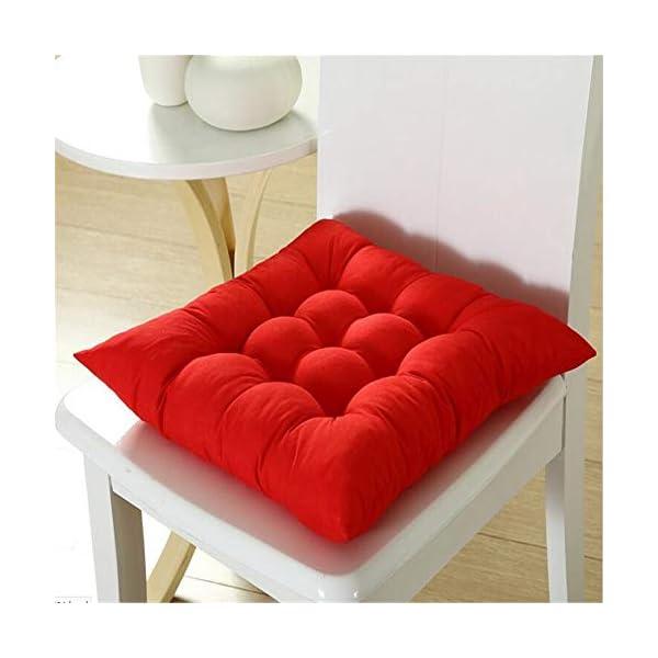AGDLLYD Cuscini di Seduta Cuscino Sedia 40x40x5cm per Interno ed Esterno - Molti Colori - Imbottitura Spessa Cuscino… 4 spesavip