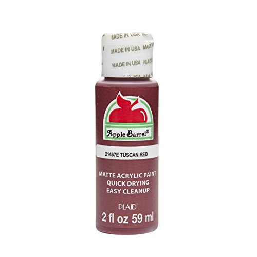 (Apple Barrel Acrylic Paint in Assorted Colors (2 oz), 21467, Tuscan Red)