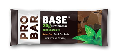 (PROBAR - Base 2.46 Oz Protein Bar, Mint Chocolate, 12 Count - Gluten-Free, Plant-Based Whole Food Ingredients )