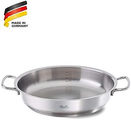 Fissler Original-Profi Collection Sartén con Asas, 32 cm, para Todo Tipo de cocinas, 4.3 litros, Acero Inoxidable, Plateado, 32 cm
