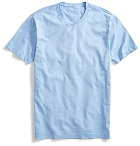 Goodthreads Mens Short Sleeve Crewneck Cotton T Shirt  Light Blue  Small