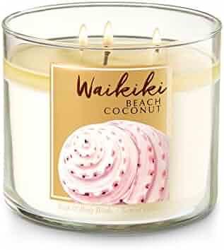 Bath and Body Work Waikiki Beach Coconut 3 Wick Candle