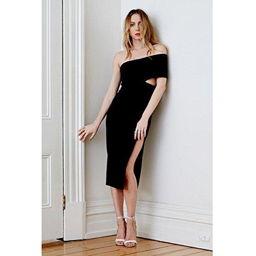 Schwarz Damen Kleid schwarz schwarz HLBCBG XS RX6cqaxgW