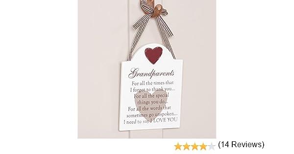 Placa para colgar con texto para los abuelos, perfecto para regalo ...