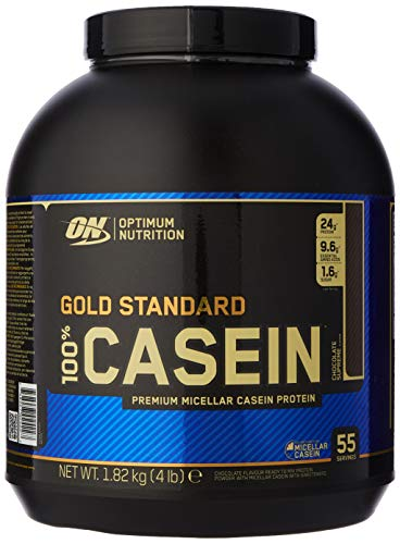 Optimum Nutrition Gold Standard Casein Protein Powder with Glutamine and Amino Acids, Protein Shake by ON - Chocolate Supreme, 55 Servings, 1.82 kg