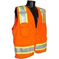 Radians SV6OM Two Tone Surveyor Class 2 Safety Vest, Medium, Orange by Radians