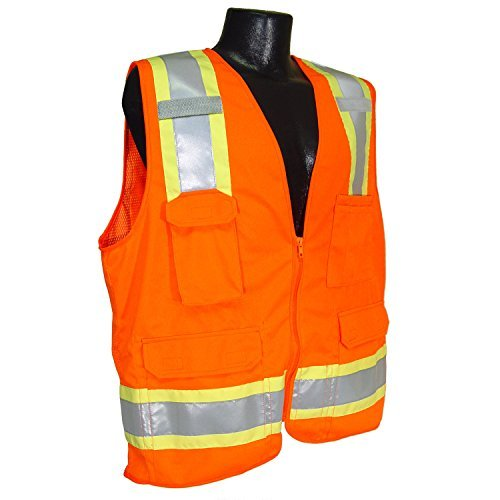 Radians SV6OL Two Tone Surveyor Class 2 Safety Vest, Large, Orange Color: Orange Size: Large Model: SV6OL (Hardware & Tools Store) by Tools & Harware