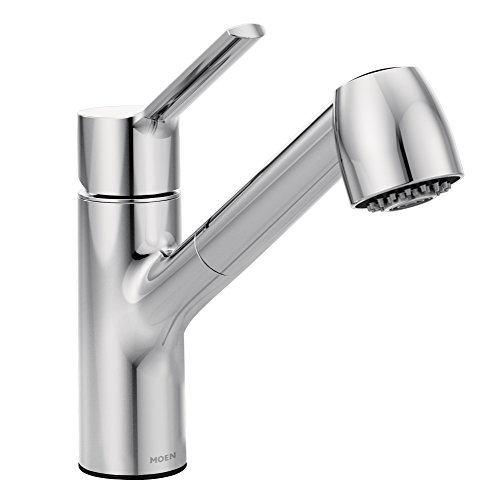 Moen 7585C Method One-Handle Pullout Modern Kitchen Faucet with Power Clean, Chrome