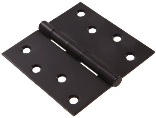- The Hillman Group 852826 4 Residential Door Hinge - Square Corner - Removable Pin - Full Mortise - Oil Rubbed Bronze Finish 1-Pack (2)