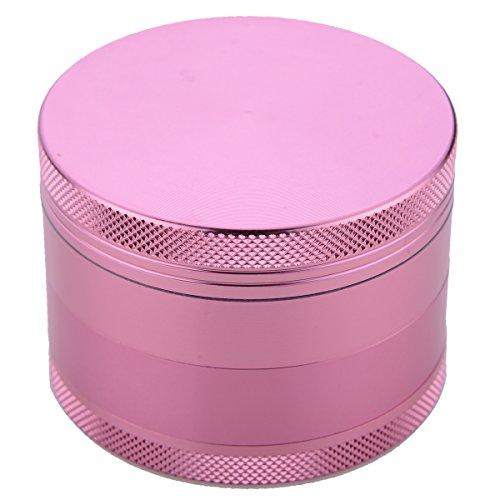 Ziselu-4-Piece-25-Inch-Herb-Grinder-aluminum-Pink