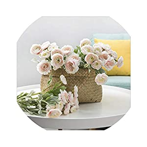 3 Heads Artificial Buttercup Flowers for Home Decoration Decor Real Touch Fake Flower Artificial Rose Peony Ranunculus Asiaticus 34