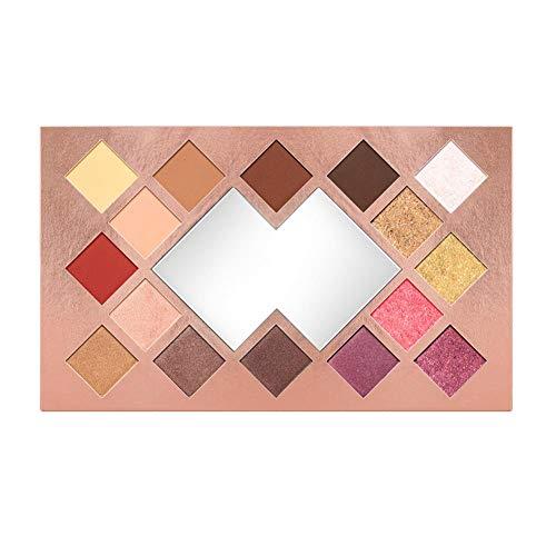 Eyeshadow Palette 16 Color Matte Shimmer High Pigmented Eye Shadow Powder Makeup Long Lasting Glitter Eyes Cosmetics ()