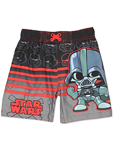 Star Wars Boys Swim Trunks Swimwear (3T, Black)]()
