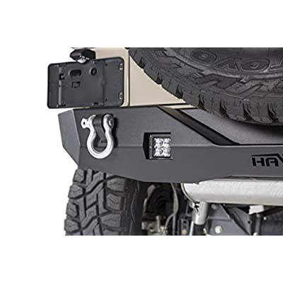 Havoc Offroad Aftershock Mid Width Offroad Rear Bumper with LED Cube Cut Out 2007-2020 Jeep JK Wrangler: Automotive