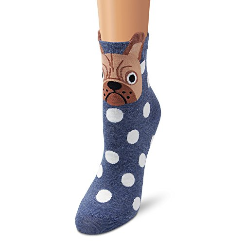 Unisexe Coton Chaussettes Ambielly 5 Thermiques Chiens Adulte Dots SRzdqI