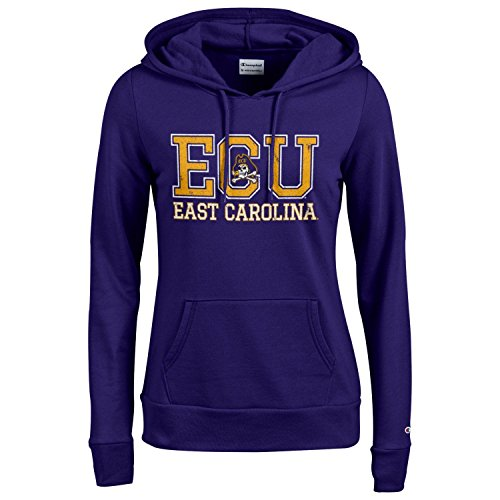 Champion NCAA Women's Comfy Fitted Sweatshirt University Fleece Hoodie East Carolina Pirates X-Large