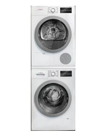Front loading stacking washer and dryer Dryer Combo 500 Series White Front Load Compact Stacked Laundry Pair With Wat28401uc 24 Washer Wtg86401uc 24 Electric Stackable Storage Cubes Iyogayogaclub Stacked Washer Dryer Units Amazoncom