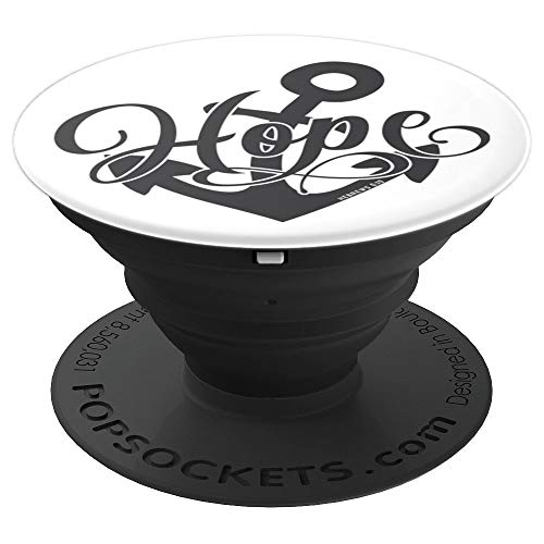 Hebrews 6:19 Christian Bible scripture Hope symbol anchor - PopSockets Grip and Stand for Phones and Tablets