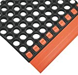 "3'4"" x 2'4"" x 7/8""Thk Black/Orange Grease"