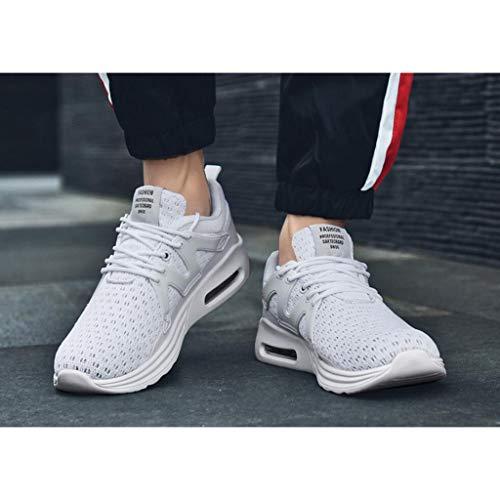 Ginnastica Casual Walking All'usura Uomo Training Traspirante Sport Sneakers Da Scarpe Resistente Da Running Zxcvb Viaggi White Ultraleggere q06xTEnv