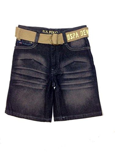 Boys' Denim Belted Short (5) (Boys Black Belted Jean Shorts)