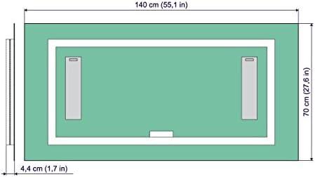 Del 140x70 Espejo Premium De Cm Led Dimensiones ED2YW9IH