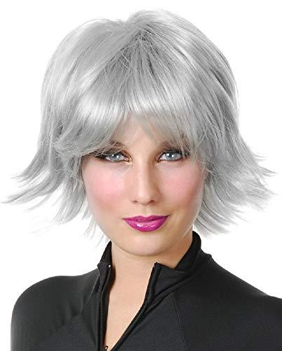 Charades Women's Super Hero Wig, White, One