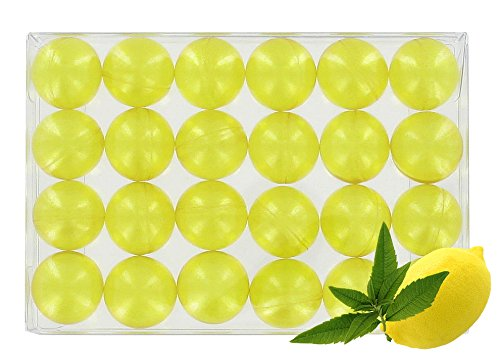 Box of 24 bath pearls - Verbena/lemon translucent S&B