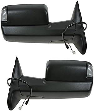 New Passenger Side Textured Black Door Mirror For Ram 2500 2011-2012 CH1321315