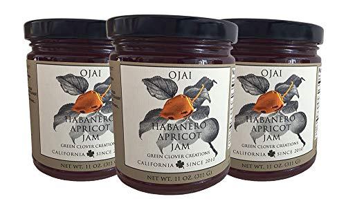 - Ojai Habanero Apricot Jam 11 oz jars (3 pack)