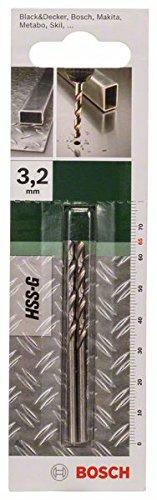 Bosch 2609255041 Set de 2 Forets /Ã/ m/Ã/©taux rectifi/Ã/©s HSS-G DIN 338 Longueur 75 mm Diam/Ã/¨tre 4 mm