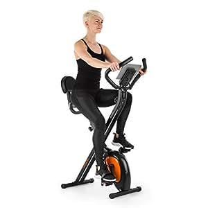 Klarfit X-Bike XBK700 Pro - Bicicleta estática , Bicicleta fija de cardio , Ergómetro , Ordenador de entrenamiento , Pulsómetro , Plegable , ...