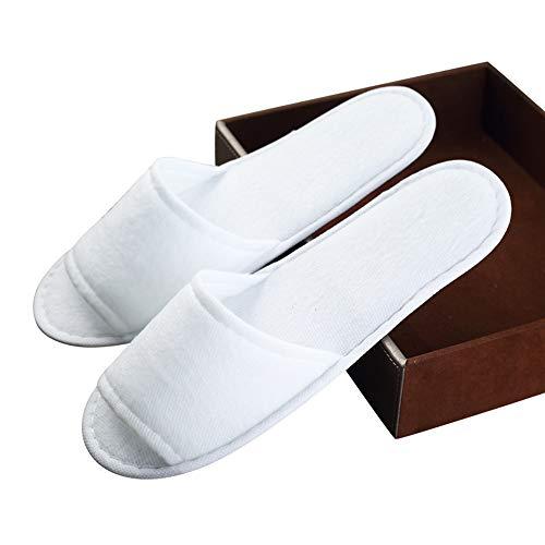 colore Aperte Stoffa Chiuse Ospiti 10 E Di Pile Getta Dell'hotel A Antiscivolo Bianche Spa scarpe Per Paia Ynn Usa Pantofole A vZq7Uv8