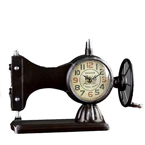 AndyJerzy Mesa de Noche Reloj Retro Moda Antigua Máquina de Coser ...