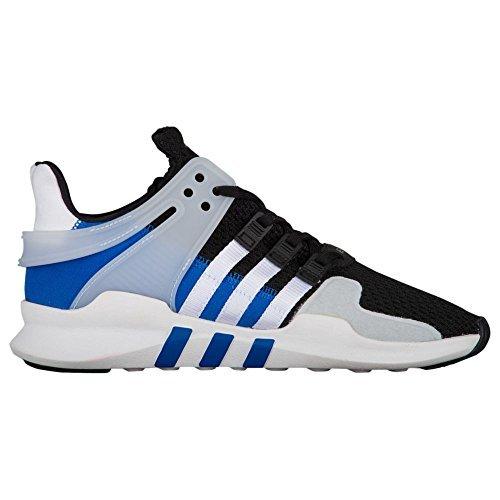 Adidas Originals Mens Eqt Support Adv J Sneaker  Black White Blue  4 5 Medium Us Big Kid